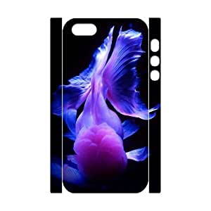 Customized Phone Case with Hard Shell Protection for Iphone 5,5S 3D case with Goldfish lxa#986957