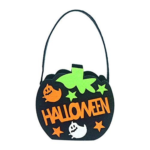 Party Diy Decorations - Non Woven Pumpkin Witch Handbag Gifts Trick Or Treat Bag Kids Candy Halloween Bucket Decorations - Trick Treats Fun Treat Halloween Kids Spookie Decoration Or Witch -