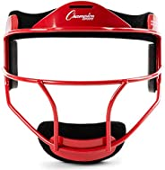 Softball Fielders Face Mask in Red Youth - 638 in