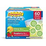 Emergen-C Immune Plus Citrus/Raspberry, 60 Count