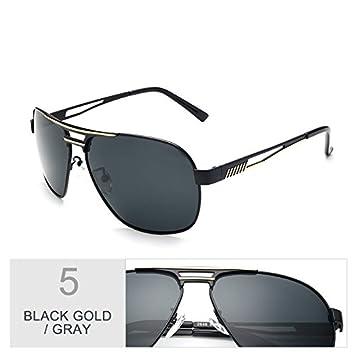TIANLIANG04 Aviador Gafas De Sol Polarizadas Hombres De Revestimiento De Color Macho Piloto Gafas Gafas De