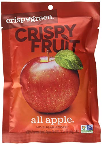 Crispy Green Freeze-Dried Fruit, Single-Serve, Apple, 0.35 Ounce (Pack of 12) | Non-GMO |Gluten Free |No Sugar Added