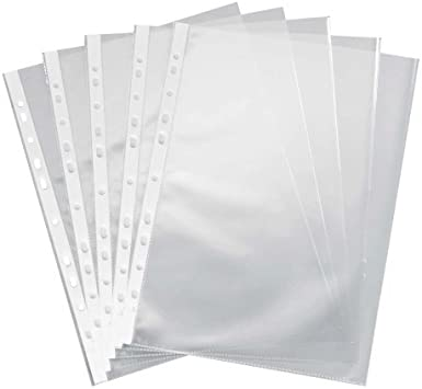 100 DIN A4 Prospekthüllen glasklar Klarsichthüllen 50 my