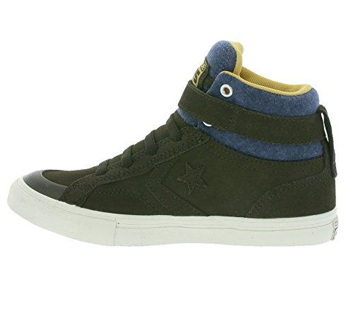 Converse 654371c Pro Blaze Strap Hi - Zapatillas de Piel para hombre dunkelbraun / blau