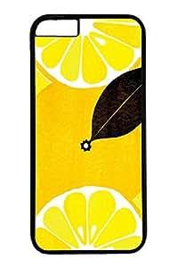 iPhone 6 Case, Personalized Unique Design Covers for iPhone 6 PC Black Case - Lemon