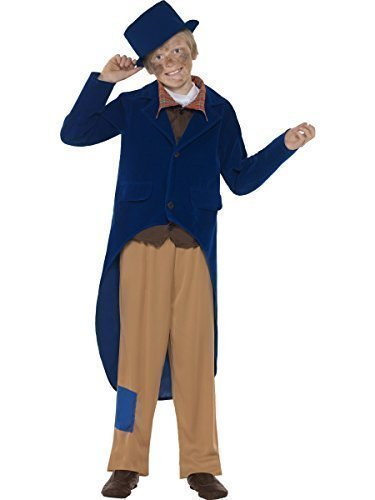 Fancy Me Big Boys' Poor Dickensian Charle Dicken Victorian Book Day Fancy Costume 7-9 Years ()