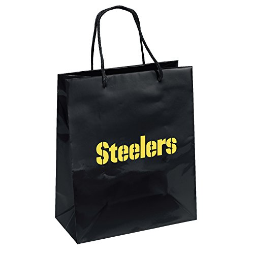 Pro Specialties Group NFL Pittsburgh Steelers Gift Bag, Black/Yellow, One Size