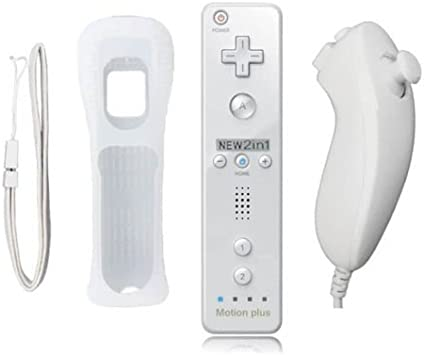 mini kitty 2 en 1 Motion Plus Mando y Nunchunk para Nintendo Wii ...