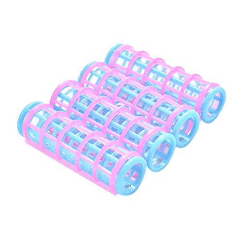 MONOMONO-10 Pcs Creative Doll Hair Curler for Barbies Dolls Pink and Blue Color
