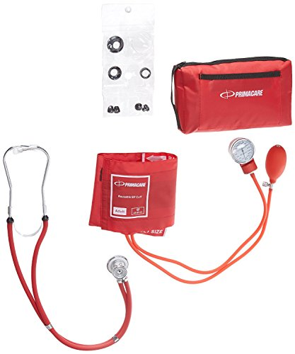 Primacare Medical DS-9181-R - Tensiómetro de brazo manual, color rojo 4