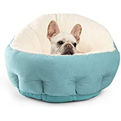 Best Friends by Sheri OrthoComfort JUMBO / Large Deep Dish Cuddler - Self-Warming Cat and Dog Bed Cushion for Joint-Relief and Improved Sleep, Tidepool, Ilan