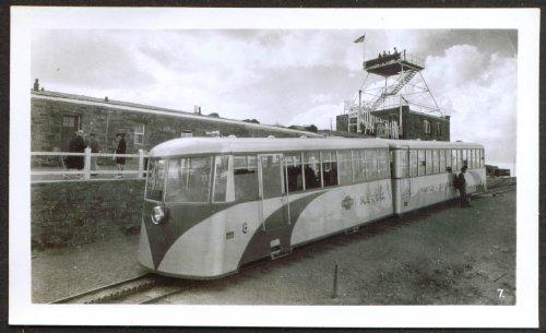 (Streamline Cog Railway Train Pike's Peak CO photo 1930s)