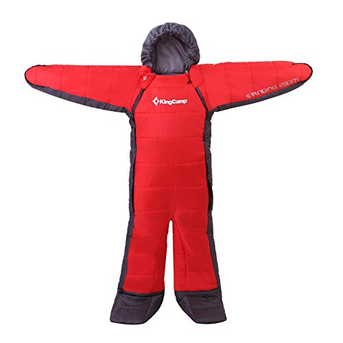 KingCamp Standing 3 Season -8 Degree C 17.6 Degree F Full Body Wearable Sleeping Bag for Family, Free Walker Design Youth, Adults