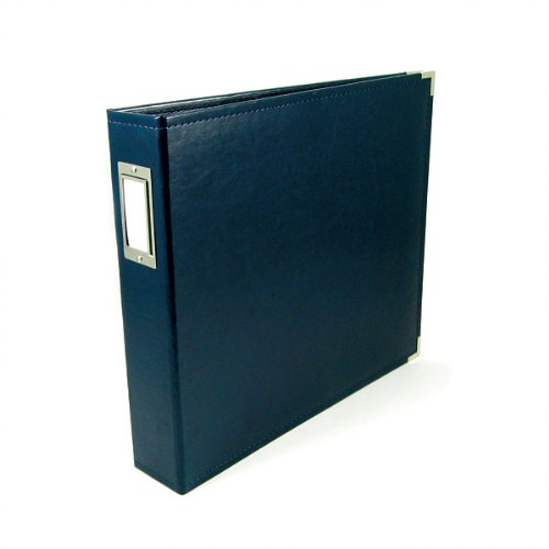 8.5 x 11-inch Classic Leather 3-Ring Album by We R Memory Keepers | Navy, includes 5 page protectors by We R Memory Keepers