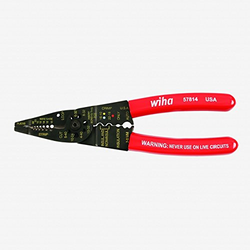 Wiha 57814 Wire Combo Strippers/Crimpers - 8.25