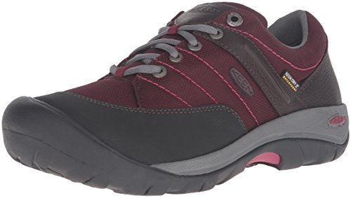 KEEN Women's Presidio Sport Mesh Waterproof Shoe, Zinfandel, 6 M US by KEEN