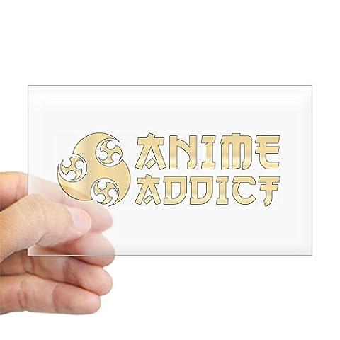 CafePress - Anime Addict Rectangle Sticker - Rectangle Bumper Sticker Car Decal - Buy Anime Japan