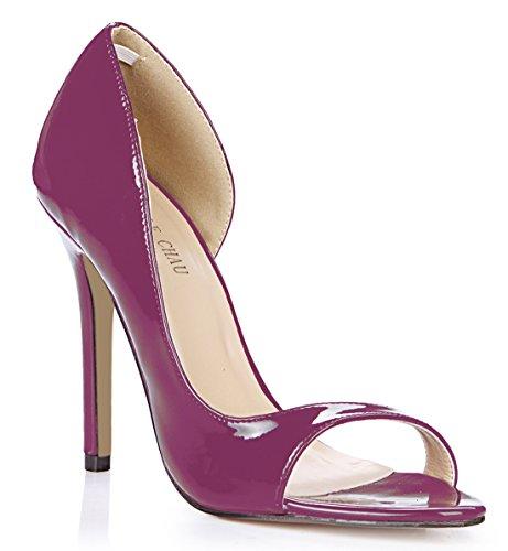 Tacon Tal de Aguja Mujer Zapatos CHMILE de Bombas Alto Chau para wcOfvHqP