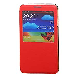 GHK - Drawbench Flip Skylight Case with Stand for Samsung Galaxy Note 3 / N9000 (Assorted Colors) , Rose