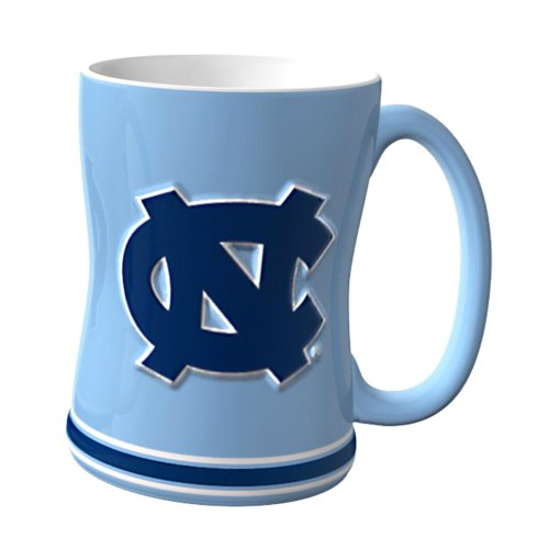 NCAA North Carolina Tar Heels Sculpted Relief Mug, 14-Ounce
