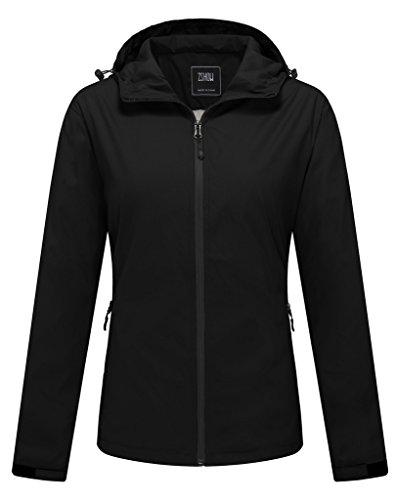 ZSHOW Women's Packable Lightweight Skin Coat Windproof UV Protect Hooded Jacket