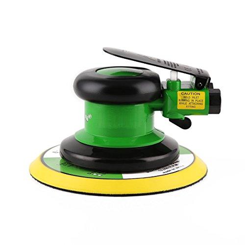 Ouya 6'' Air Random Orbital Sander, Dual Action Pneumatic Orbit Orbit Polisher Pro Grinding Sanding Tools,Green by Ouya