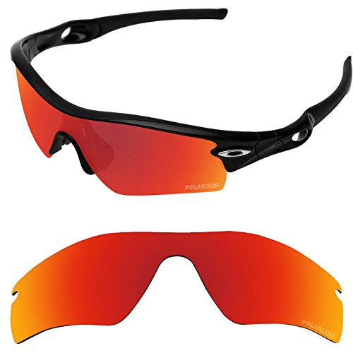 Tintart Performance Replacement Lenses for Oakley Radar Path Sunglass Polarized Etched-Fire Red by Tintart