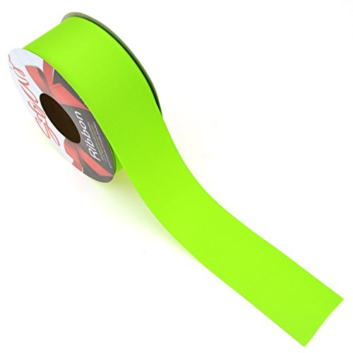 Star Quality 1-1/2 Inch Wide Double Face Grosgrain Ribbon for Floral and DIY Projects | No Fading Woven Ribbon for Hair Bows, Gift Wrapping and Scrapbooking (1.5 Inch x 10 Yard, Lime Green) -