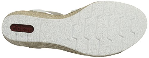 Bianco Toe Weiss Sandals Pink 61949 Rieker WoMen Closed n100Ov
