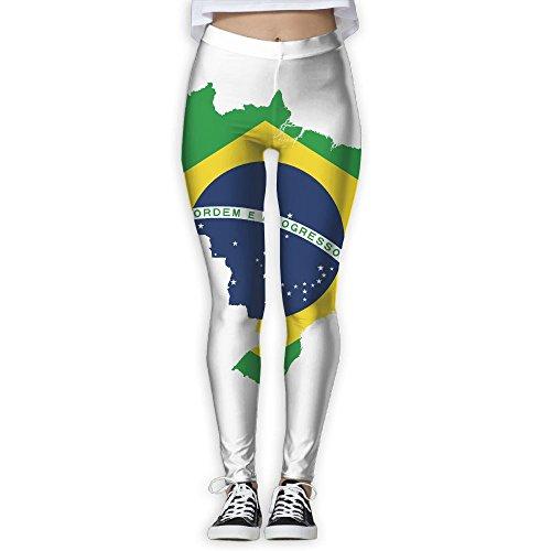 Women's Girl Brazil Flag Fashion Slim High Waist Tights Yoga Pants Sport Gym Running Fitness Workout Leggings Skinny Long - I Sportswear Buy Cheap Where Can