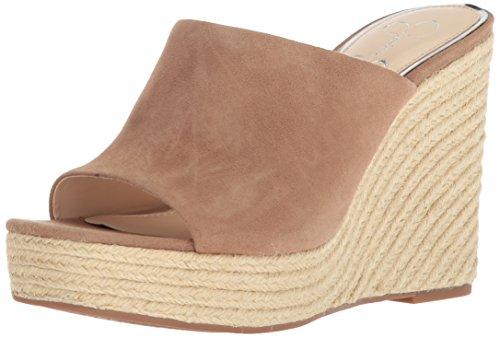 Jessica Simpson Women's SIRELLA Espadrille Wedge Sandal, fawny, 8.5 Medium US (Platforms Jessica Leather)