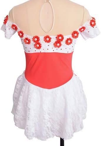 HUAYANGNIANHAU Figura Pattinaggio Dress Girl Woman Skating Show Costume pu/ò Essere Personalizzato a Colori e Dimensioni,6
