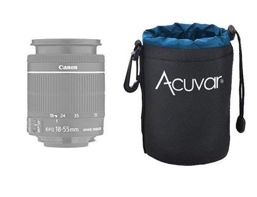 3-Pack ACUVAR Soft Neoprene Lens Pouch for DSLR Lenses Panasonic Pentax Water Resistant Nikon Sony f//Canon Nikkor w//Drawstring Olympus Small, Medium and Large