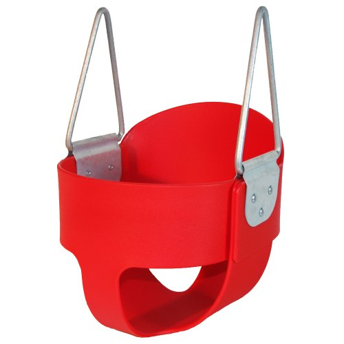 High Back Full Bucket Toddler Infant Swing Seat - Seat Only - Red