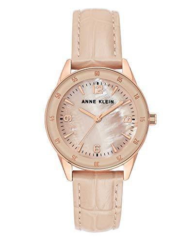 Anne Klein Women's Croco-Grain Leather Strap Watch, AK/3734