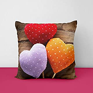 41nyh3GXzkL. SS320 Colur Heart Square Design Printed Cushion Cover