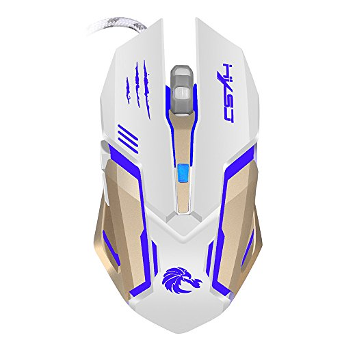 FIged 2.4G Adjustable 7 Buttons Optical USB Wired Gaming Game Mouse ,for PC Laptop High-end optical engine, precise positioning ()
