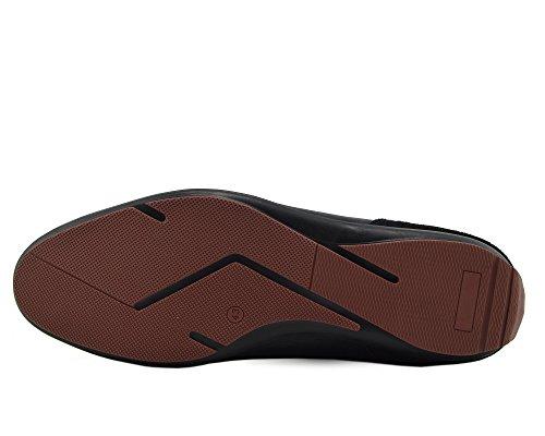 Giatoma Niccoli Casual Genuine Leather Black Mens Shoes Black-S 445htil