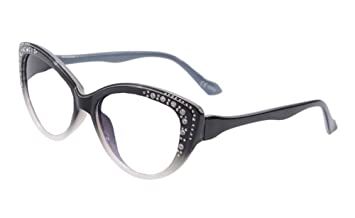 5506c8f7d7a SHINU Ladies Cateye Computer Reading Glasses Progressive Multifocus Glasses -1075(black