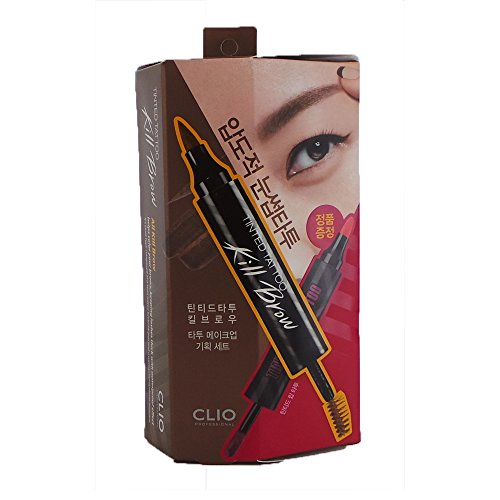(6 Pack) CLIO Tinted Tattoo Kill Brow Tattoo Makeup Set Earth Brown by Clio