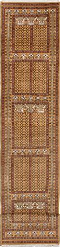eCarpet Gallery Hand-Knotted | Runner Rug for Hallway, Entrance, Kitchen | Home Decor Rug | 100% Wool | Peshawar Bokhara Traditional Orange Rug 2