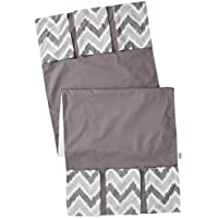 Bacati MixNMatch Zigzag Changing Table Storage Runner, Grey