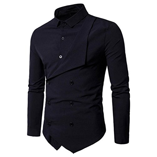 Men-Fancy-ShirtMens-Shirts-Double-Breasted-Lapel-Long-Sleeve-Button-up-Slim-Fit-Shirt-Dress-Shirt