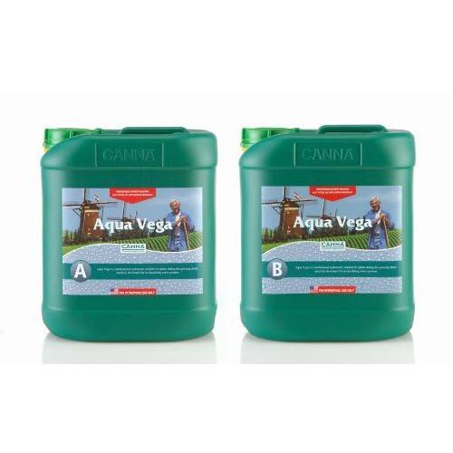 5 Liter - Aqua Vega - Part A and B - Veg Nutrient - Developed For Recirculating Systems - CANNA 9520005