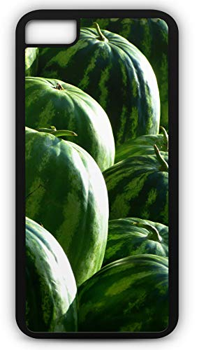 iPhone 8 Case Melons Watermelons Fruit Green Seedless Watermelon Customizable by TYD Designs in Black Rubber]()
