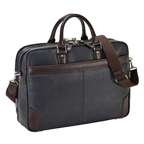 ハミルトン HAMILTON 合皮ビジネスシリーズ メンズ ビジネスバッグ ブリーフケース 26626 ネイビー[並行輸入品] B06WP5THH5