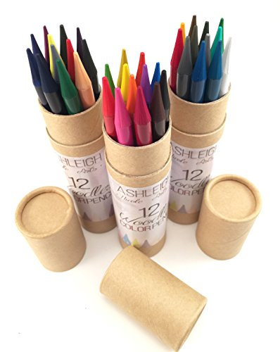 Ashleighnicolearts Artist Quality Colored Pencils with Super Long Lasting Woodless Design for Adult Coloring Drawing and Sketching (36, Color)