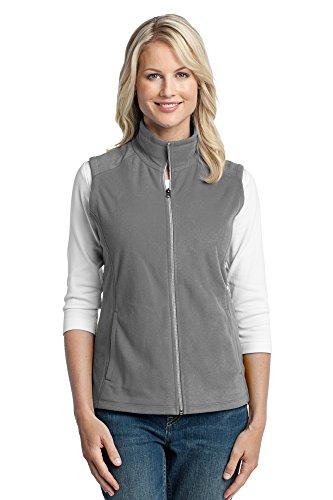 Vest Port Womens Authority (Port Authority Women's Microfleece Vest, Medium, Pearl Grey)