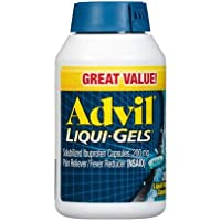 Advil Liqui-Gels Minis, 200 Count, Ibuprofen 200mg, Pain Reliever/Fever Reducer Liquid Filled Capsule, Fast Pain Relief for Headaches, Back Pain, and Muscle Pain, Easy to Swallow 2-Pack