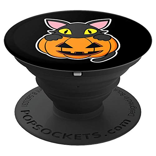 Scary Halloween Phone Pranks (Funny Scary Happy Halloween Black Cat Pumpkin Women Men Kids PopSockets Grip and Stand for Phones and)